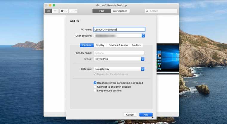 اتصال به کامپیوتر شخصی با سیستم عامل اپل