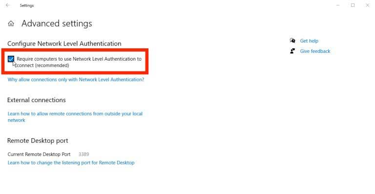 Network Level Authentication