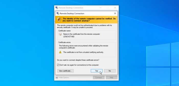 تنظیمات اتصال با مایکروسافت ریموت دسکتاپ