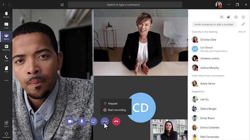 مایکروسافت تیمز (MicroSoft Teams) ، برنامه کنفرانس ویدئویی رایگان ،